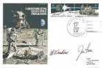 1979 RAF HA Cover, NASA Space Programme Cover, signed by Apollo 15 Astronauts Al Worden & Jim Irwin, Houston Postmark.