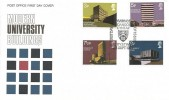 1971 Universities, Post Office FDC, First Day of Issue Aberystwyth H/S