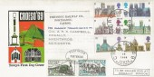 1969 British Cathedrals, Towyn Official FDC, Croeso 69 Tywyn Merioneth H/S