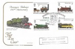 1975 Stockton & Darlington Railway, Cotswold Official FDC, Return of Steam 10th Anniversary Year Buckfastleigh Devon H/S