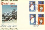 1966 Christmas, Connoisseur FDC, Phosphor + Ordinary sets First Day of Issue Bethlehem Llandeilo Carms. H/S