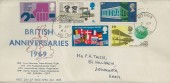 1969 Notable Anniversaries, Unusual Illustrated FDC, Hitchin Herts. cds