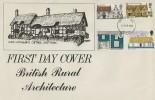 1970 British Rural Architecture, Anne Hathaway's Cottage Shottery FDC, Bristol FDI