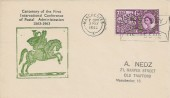 1963 Paris Postal Conference, Unusual Illustrated FDC, Manchester First Day of Issue Slogan
