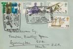 1968 British Anniversaries, Pavilion Hotel Scarborough Envelope, RAF 50th Anniversary Fylingdales Post Office Pickering H/S