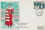 1970 British Rural Architecture, Solent Prince of Wales Introduced to the House of Lords FDC, Windsor Berks. FDI 1s stamp only