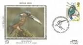 1980 British Birds, Set of 4 Benham Small Silks, with 4 different H/S's