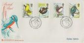 1980 British Birds, Save the Children Fund FDC, Signed by the Stamp Designer Michael Warren.