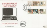 1982 Information Technology, British Library No.37 FDC, First Day of Issue London WC H/S.