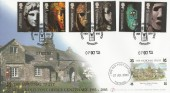 2003 British Museum, Buckingham Covers FDC, Centenary of the Old Post Office Tintagel H/S.