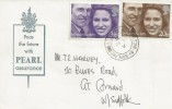 1973 Royal Wedding, Pearl Assurance FDC, Stoke by Nayland Colchester cds.
