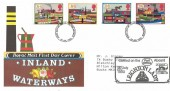 1993 Inland Waterways, Royal Mail FDC,Milton Keynes FDI, Carried on the Aboard Leighton Lady Cachet.