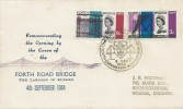 1964 Forth Road Bridge, unusual Illustrated FDC, Forth Road Bridge South Queensferry H/S, Phosphor Set.