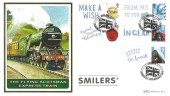 2010 Business Customised Smilers Sheets, Benham Official FDC pair, Smilers London WC H/S.