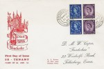 1965 2/- Holiday Booklet, Se-Tenant Pane, R F Grover City of Historic Interest Winchester FDC, Winchester Hants. cds.