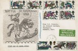 1966 Battle of Hastings, Special Delivery Illustrated FDC, Margate Kent cds.