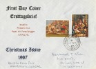 1967 Christmas RAF Bruggen FDC, Field Post Office 986 cds.