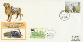 1979 Dogs, Bluebell Railway London Jack FDC, 9p Stamp only Brighton FDI.