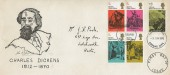 1970 Literary Anniversaries, Scarce John Poole Illustrated FDC, Stevenage FDI.