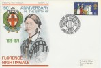 1970 General Anniversaries, National Army Museum Official FDC, Florence Nightingale British Forces 1205 Postal Service H/S.