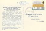 1970 British Rural Architecture, J. Arthur Dixon Ulster Thatch Stamp Postcard, Belfast FDI.