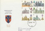 1969 Cathedrals, Rheindahlen Garrison Stamp Club FDC, Forces Post Office 50 cds.