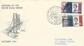 1964 Forth Road Bridge, Scarce Illustrated FDC, The Forth Road Bridge North Queensferry H/S.