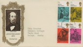 1970 Literary Anniversaries Pair of Illustrated FDC's, Stevenage Herts. FDI.