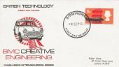 1966 British Technology, BMC Creative Engineering FDC, Birmingham FDI.