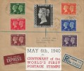 1940 Postage Stamp Centenary, Superb Registered Hand Made FDC, Orwell Road Liverpool cds.