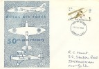 1968 British Anniversaries, 50th Anniversary of the RAF FDC, London SE1 FDI.