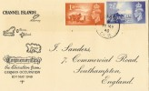 1948 Channel Islands Liberation, J Sanders FDC, Alderney cds