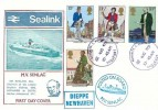 1979 Sir Rowland Hill, Sealink M.V. Senlac FDC, Newhaven Sussex Paquebot cds, Posted on Board M.V.Senlac & Dieppe Newhaven Cachets