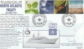 2000 Life & Earth, Royal Navy Cover Group Official FDC, 1949 Anniversary of Signing of North Atlantic Treaty Whitehall H/S, signed.