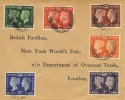 1940 Centenary of the First Adhesive Postage Stamp, British Pavilion New York World's Fair FDC,  London 259 cds.