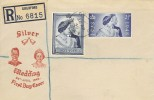 1948 Silver Wedding, Very Scarce Registered Illustrated FDC, Guildford Surrey cds.