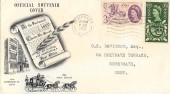1960 General Letter Office, Official London International Stamp Exhibition Souvenir FDC, Sevenoaks Kent Cancel.
