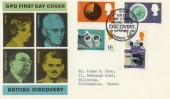 1967 British Discoveries, GPO Cover, HMS Discovery London WC H/S