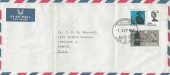 1965 Joseph Lister Antiseptic Surgery, Plain Airmail Envelope, Eyam Plague Tercentenary Commemoration Eyam Sheffield H/S.