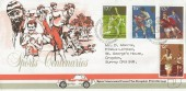 1980 Sporting Anniversaries, Drapkin Print Group FDC, First Day of Issue Philatelic Bureau Edinburgh H/S.