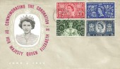 1953 Coronation, Illustrated FDC, Long Live the Queen Slogan Uckfield.