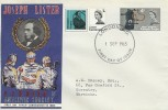 1965 Joseph Lister Antiseptic Surgery, Hand made FDC, London EC FDI.