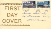 1967 European Free Trade Area, EFTA, Display FDC, Blackburn & Accrington Lancs. cancel.
