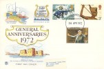 1972 General Anniversaries, Stuart FDC, Treasures of Tutankhamun Exhibition London WC H/S.