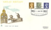 1979 11½p, 13p, 15p Definitive Issue, Mercury FDC, 1979 Anniversaries British Library London WC H/S.