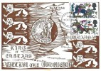 1966 Battle of Hastings, French Reply card, 2x4d Stamps, Hastings FDI + French Stamp Cancelled Exposition Philatelique Bonneville Touques H/S