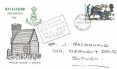 1966 Battle of Hastings, Upleatham Renovation FDC, 4d Stamp only Middlesborough FDI + Cachet.