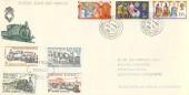 1969 Christmas, Festiniog Railway FDC, Portmadog Caernarvonshire cds, + 4 Railway Letter Stamps.