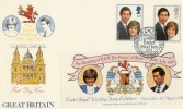1981 Royal Wedding Exeter Stamp Centre Official FDC,  Royal Wedding Stamp Exhibition Exeter H/S.