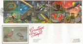 1991 Greeting Stamps, Presentation Philatelic Service, PPS, FDC, Good Luck Luckington Chippenham Wilts. H/S.